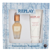 REPLAY Jeans Original for Her Dárková sada 20 ml a tělové mléko Jeans Original for Her 100 ml