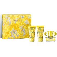 VERSACE Yellow Diamond Intense Dárková sada dámská parfémovaná voda 50 ml, tělové mléko Yellow Diamond Intense 50 ml a sprchový gel Yellow Diamond Intense 50 ml